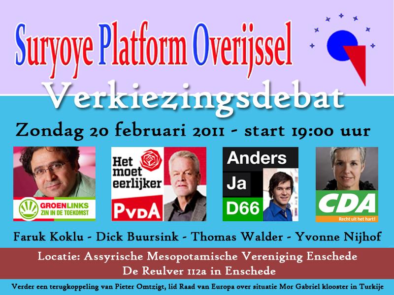 Verkiezingsdebat PS 2011 Suryoye Platform Overijssel